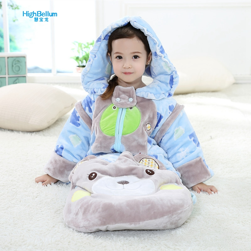 Cute Cartoon Separatable Baby Stroller Sleeping Bags Winter Baby Bed Sleep Sack Warm Blanket Swaddle In Striller Accessories 2016 fashion knitted mermaid blanket fish tail soft and warm blanket adult throw bed wrap sleeping bag60 140 cm