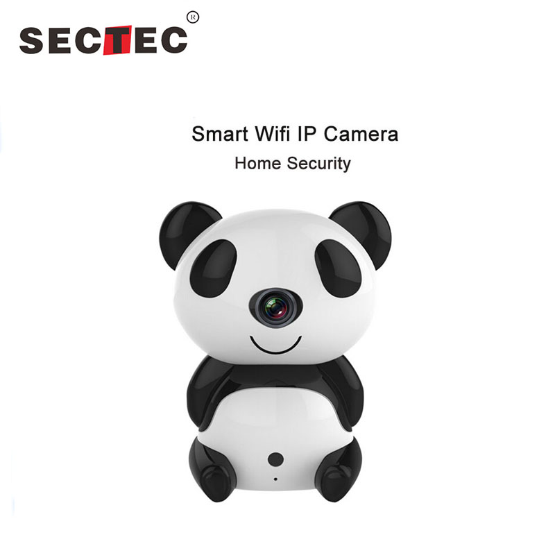 SECTEC 720P IP Camera Wifi P2P Panda Baby Monitor Wireless Camera For Home Security Support Day Night Version Surveillance Cam