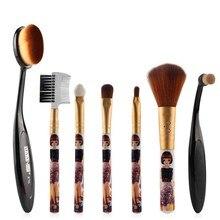 Newest 5 / 7 Pcs/Set Makeup Brushes Sets Pro Eyeshadow Powder Lip Blush Cosmetic Brush Beauty Tools V2
