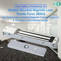 Eseye 280KG Electric Door Lock Magnetic Lock Access Control System 12V DC Door Lock Hold Force Single Door Electromagnet Cabinet