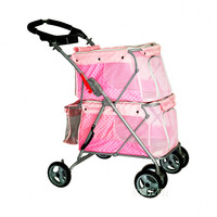 Multifunctional Cat Dog Strollers Pet Stroller For 2 Dogs Within 25KG Car High Quality Pet Gear