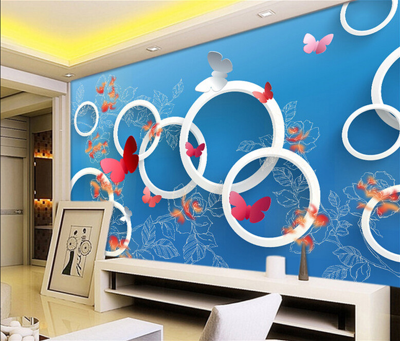 Simple modern cold blue tone seamless customized large mural bedroom living room sofa TV backdrop 3D wallpaper 3d  free shipping england wind red white blue fashion backdrop tv backdrop bedroom living room mural wallpaper
