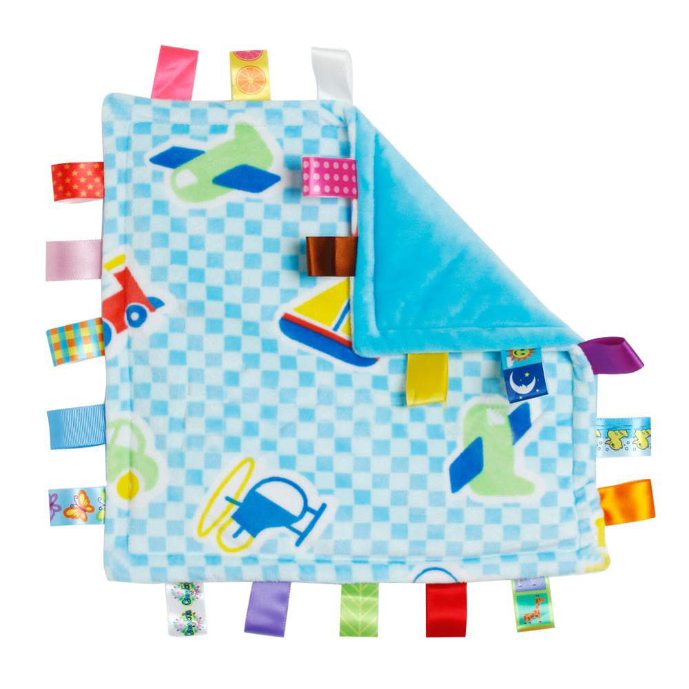 30*30cm Baby Appease Towel Baby Calm Wipes Baby Towel Towel Blanket Cute Doll Plush Toys A5370(Car airplane)