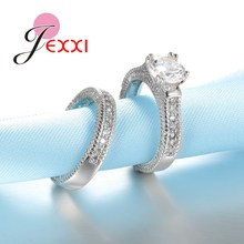 JEXXI 925 Stamped Sterling Silver Ring Sets 2 PCS