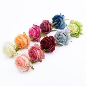 Image 3 - 6/10 stück künstliche blumen für home dekoration hochzeit auto braut zubehör freiheit diy geschenke box seide rosen blume wand