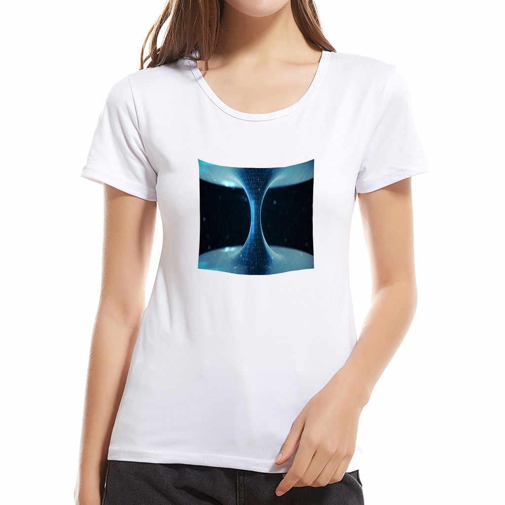 أزياء قصيرة الأكمام قميص مطبوعة السيدات عارضة الأزياء الإبداعية طباعة قصيرة الأكمام قميص الوالدين والطفل الأم A501