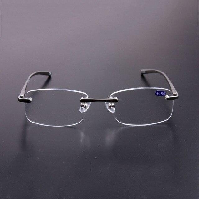 125f436aaa7 Men Women Framelesss Reading Glasses Mental Leg Resin Lens Eye Glasses  Ultralight Eyewear R130