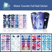 цена на Rocooart Nail Stickers on Nails Bling Art Stickers For Nails Owl Eyes Nail Art Water Transfer Stickers Decals DIY Manicure