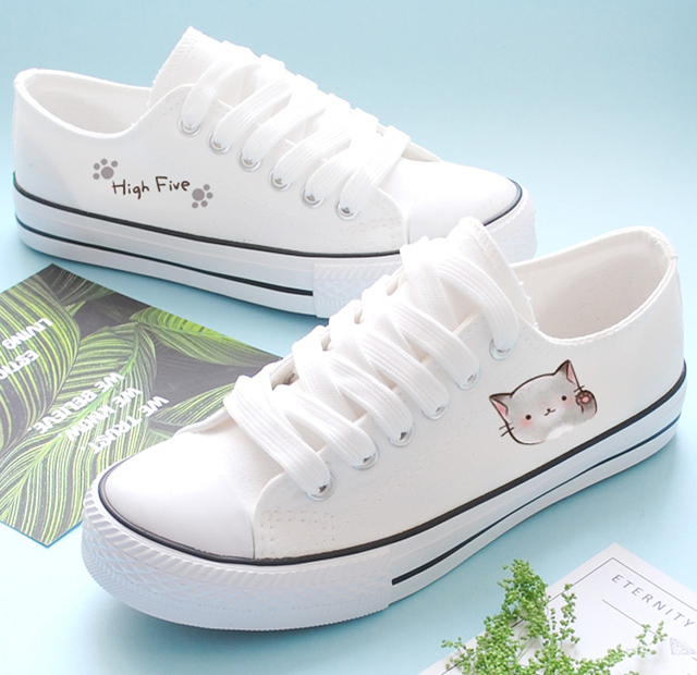 073289fedb2 Women's Sneakers Casual Low Help Summer Canvas Women's Shoes Mujeres  Zapatos Popular Hand Painted Girl Shoes Senderismo Big Size