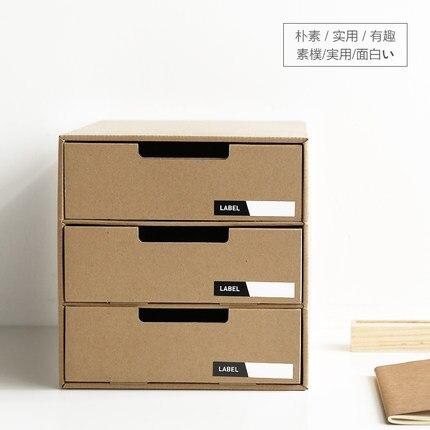 Japanese Paper Box Desktop Storage Box Drawer Type Desk Creative DIY Desktop  File Finishing Box With Label Stickers In Storage Boxes U0026 Bins From Home ...