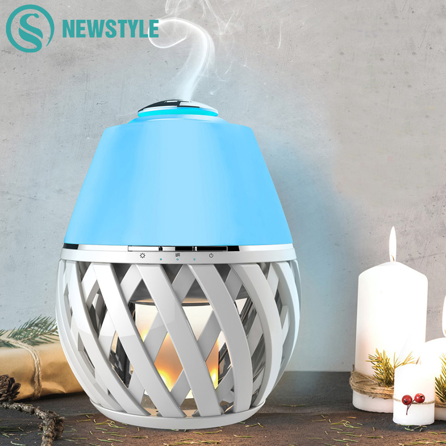 Novelty Aroma Diffuser With Flame Atmosphere LED Night Light Air Humidifier Essential Oil Diffuser Mist Maker for Home Office novelty aroma diffuser with flame atmosphere led night light air humidifier essential oil diffuser mist maker for home office