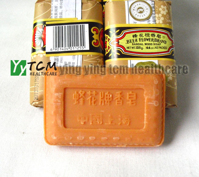 Wholesale Bee Flower Sandalwood Soap Bath Soap125g Per Pcs Old China Shanghai Brand