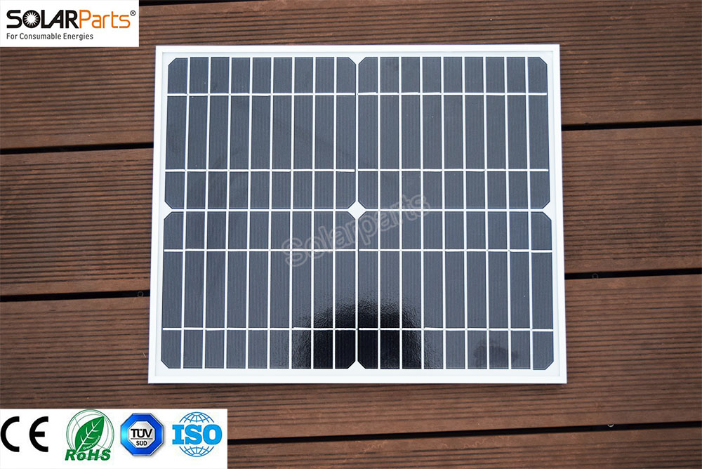 Solarparts 2x20W/18V Monocrystalline solar cell glass Laminated Monocrystalline solar panel module DIY solar charger for outdoor high efficiency solar cell 100pcs grade a solar cell diy 100w solar panel solar generators
