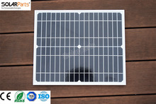 Solarparts 2×20 W/18 В Монокристаллический солнечных Батарей стекла Ламинированные Монокристаллический модуль панели солнечных Батарей DIY солнечное зарядное устройство для наружного