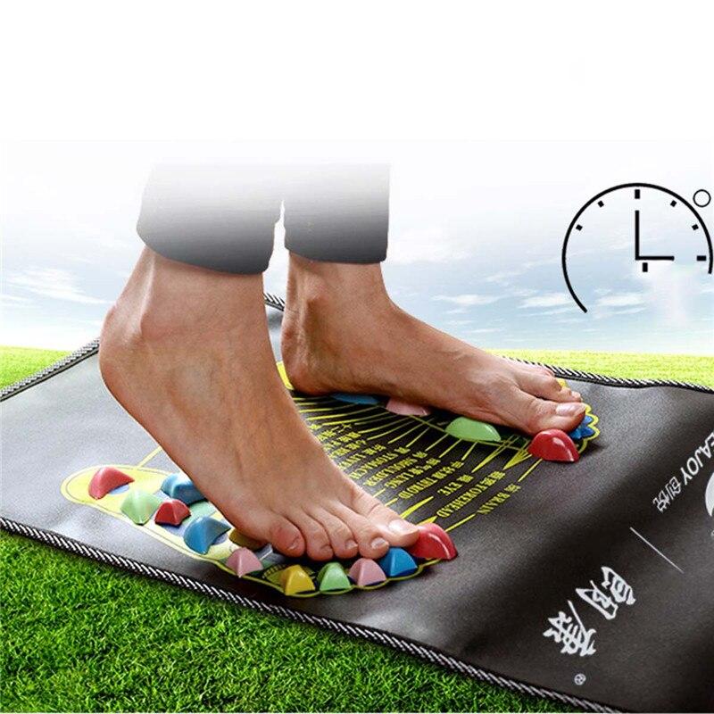 Medialbranch Colorful Plastic Foot Massager Pad Acupuncture Cobblestone Yoga Mat 175*35cm YF2017  Bodys Treatment