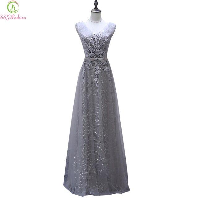 Abendkleid grau