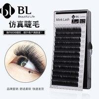 BLINK LASH(7 14) L+ Curl 0.15 Thick False Mink Eyelashes, Faux Mink Eyelash Extension Makeup For Beauty Salon Mix Length Lash