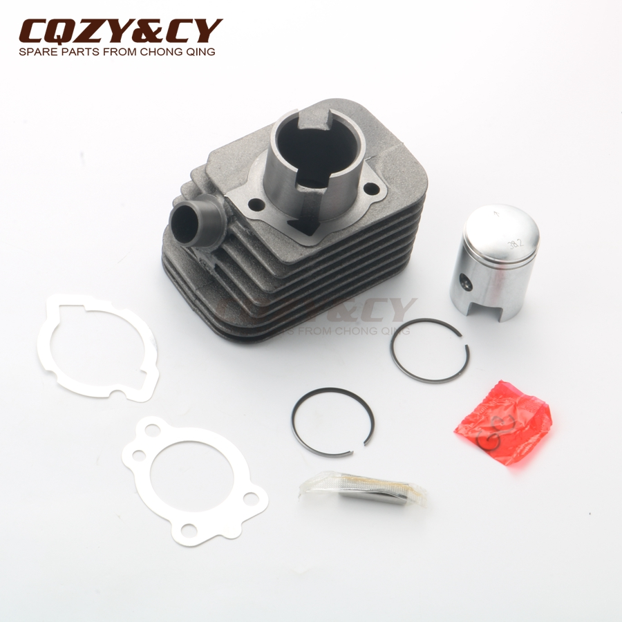 38.2mm Cylinder Kit & Piston Kit & Cylinder Gasket For PIAGGIO Boss 50 Boxer Bravo Ceao Grillo Ciao Si 50cc 10mm 100080310