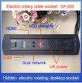 Штепсельная Вилка EU/UK  электрическая настольная розетка с вращением/скрытой/мультимедийной HDMI RJ4 USB зарядная розетка/можно выбрать Функцион...