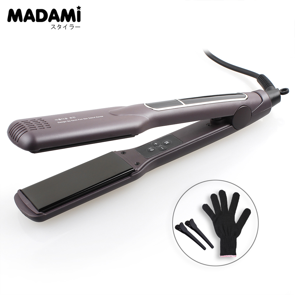 MADAMI MCH Technology Profession Hair Straighteners Hair Protection Plancha Ceramic Titan Household Fast Styling Flat Iron