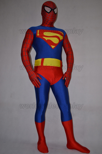 Free Shipping Superman Spiderman Batman Cosplay Zentai Suit Custom Made for Christmas