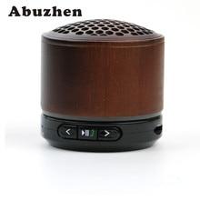 Abuzhen Bluetooth Speaker Wooden Wireless Subwoofer Stereo Speaker MP3 Music Player Support TF Card FM Radio Hands-free Speaker