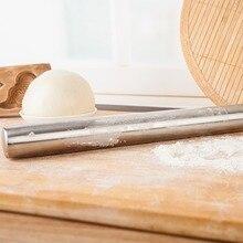 40*3,6 CM Edelstahl Fondant Nudelholz Backen Grobe Ton Knödel Pizza Pastry Roller Non Stick Kuchen Küche zubehör
