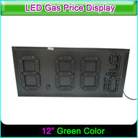 12 Outdoor Gas Station Green Color LED Price Digital Sign with Light Box