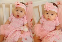 Beautiful Chevron Baby Romper With Pink Tutu Skirt Girls Kids Dress Princess Bodysuits Gifts