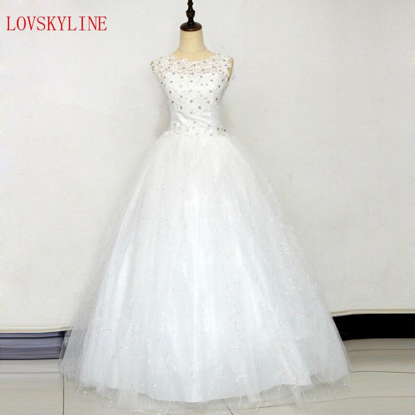 Nuevo vestido de boda de la novia del vestido formal 2018 del tamaño más  vestido de novia piso de lengthh doble hombro puffy falda verano o-cuello a6a860324018
