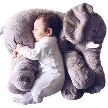 60cm 1pc Infant Soft Appease Elephant Playmate Calm Doll Baby Toys Elephant Pillow Plush Toys Stuffed Doll