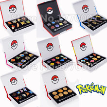Pokemon Gym Badges Kanto Johto Hoenn Sinnoh Unova Kalos League Region Orange Islands Pins Brooches New in Box Set Gift(China)