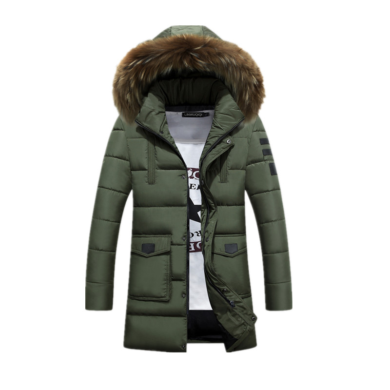 2017 new arrival winter style Men's version of the long section fur collar hooded white duck down jacket coat,4 colors,M-3XL. 2017 winter new clothes to overcome the coat of women in the long reed rabbit hair fur fur coat fox raccoon fur collar
