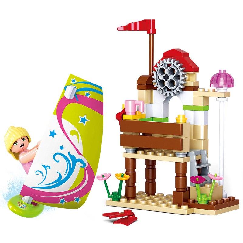 Sluban 0601 84PCS Pink dream (new) - witty banter. Legoings toys for children educational building blocks 3D DIY Figures