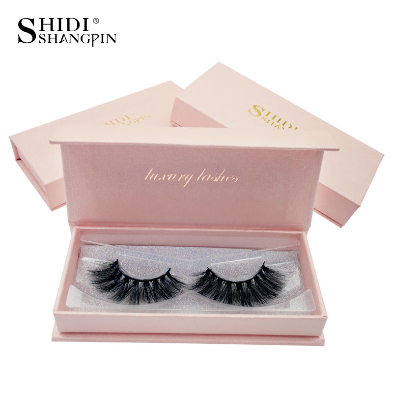 SHIDISHANGPIN 1 Pair Mink Eyelashes Natural Long 3d Mink Lashes 1 Box False Eyelashes Volume Eyelash Extension Cilios Maquillaje