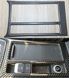 Voor Volkswagen VW Golf 7 MK7 VII GTI 2014-2017 Console Water Bekerhouder Sigarettenaansteker Frame Cover Trim carbon Fiber