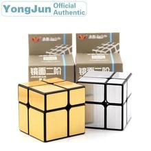 YongJun Mirror 2x2x2 Magic Cube YJ 2x2 Professional Speed Puzzle Antistress Fidget Educational Toys For Children цены