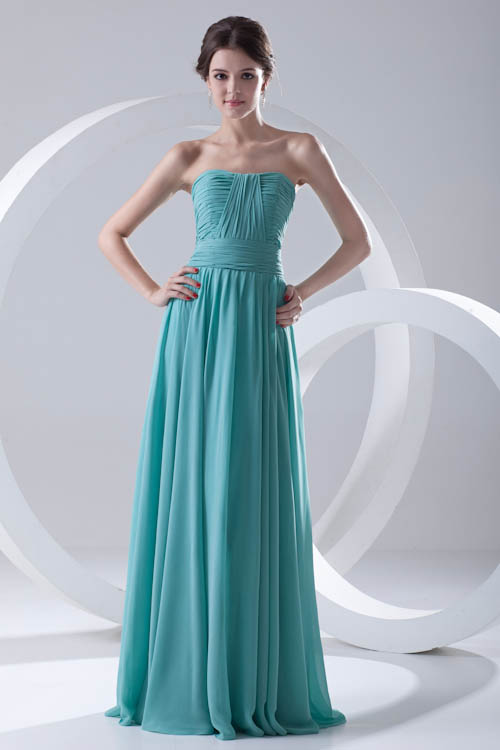 Charming Backless Green Chiffon   Bridesmaid     Dresses   Long Zipper Back Wedding Guest   Dress   Robe Demoiselle D'honneur
