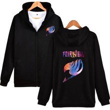 FAIRY TAIL Anime Harajuku Hoodies Zipper Sweatshirt Unisex