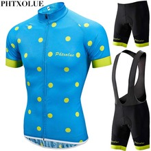 Phtxolue Pro Men Cycling Clothing Cycling Sets Bike uniform Kit Cycling Jersey Set Road Bicycle Jerseys MTB Bicycle Wear