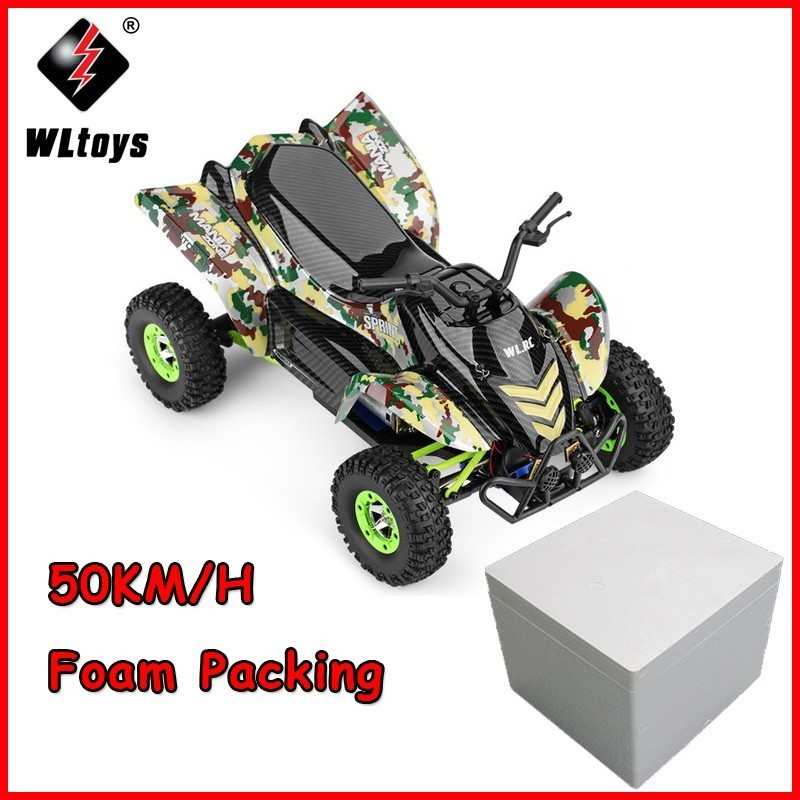 1/12 High Speed RC Car 12428-A 2.4G 4WD Brushed Off-road Motorcycle Remote Control Viechle Machine RTR RC Buggy Off-Road car toy new 7 2v 16v 320a high voltage esc brushed speed controller rc car truck buggy boat hot selling