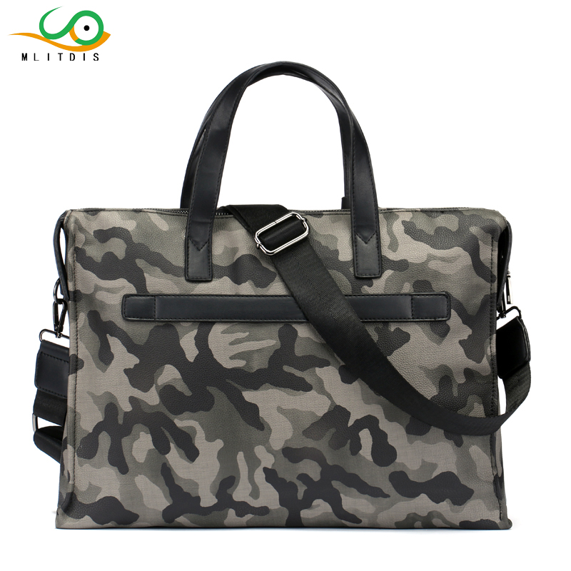 MLITDIS Camouflage Mens Leather Briefcase Fashion Shoulder Bag For Man Quality Designer Bag For 14 Inch Documents Male Tote BagMLITDIS Camouflage Mens Leather Briefcase Fashion Shoulder Bag For Man Quality Designer Bag For 14 Inch Documents Male Tote Bag