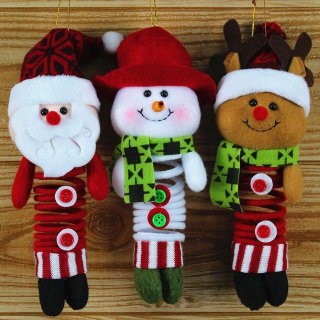 2017 marry christmas decorations santa claus craft plush doll figure toy animals stuffed deer snowman children - Santa Claus Craft
