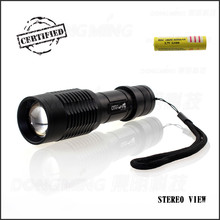 Factory price super bright Zoom 5000 lumen rechargeable 4.2V with 18650 battery Cree XML-T6 LED Tactical Flashlight Torch