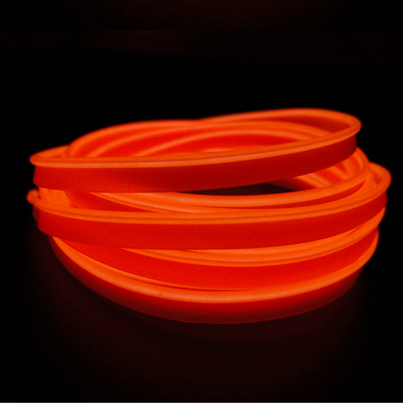 JURUS 2pcs 2.3 mm 2M clamping-edge EL Wire Flexible Neon 10 Colors Car Decorate Strip with 12V Drive controller Free shipping hot sale 10 colors 3m clamping edge two splices led flexible el wire neon glow light with 12v controller for most cars styling