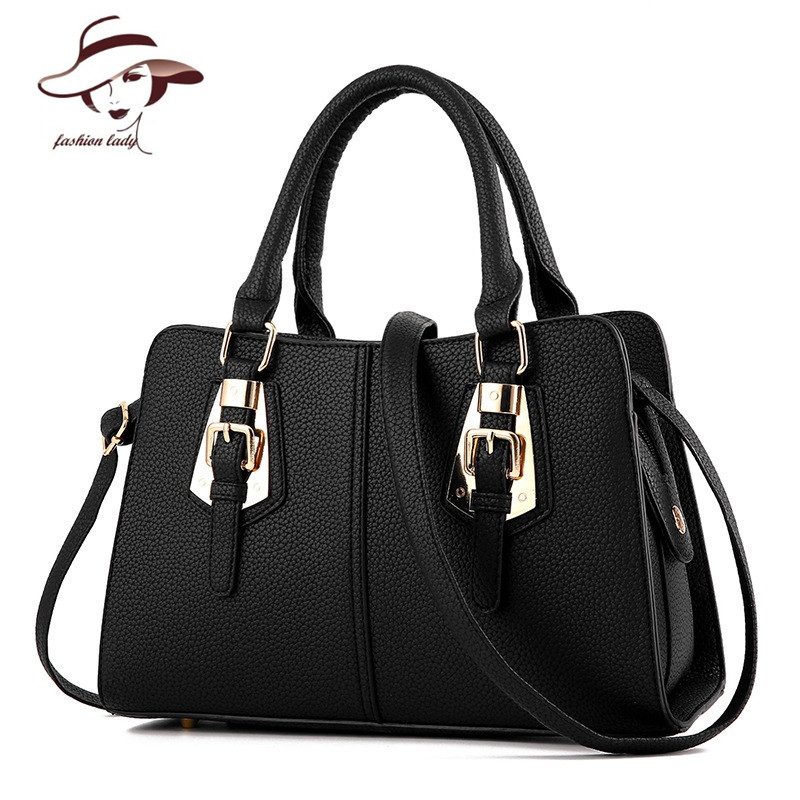 ФОТО 2017 Luxury Women Leather Handbags Hot Sale Shoulder Bags Big Women Messenger Bag Famous Brands Female Tote Women Handbag Purse