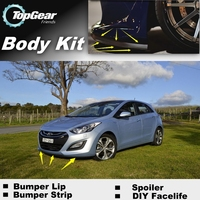 For Hyundai i30 / Elantra GT Bumper Lip / Front Spoiler Deflector For TopGear Friends Car Tuning View / Body Kit / Strip Skirt