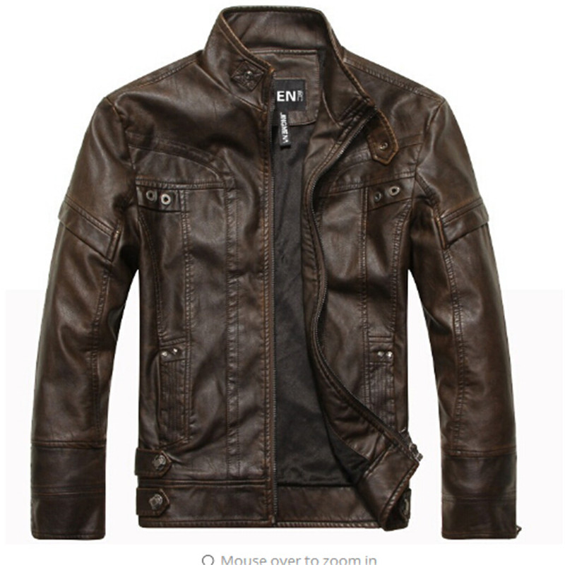 New arrive brand motorcycle leather jackets men ,mens leather jacket, jaqueta de couro masculina,mens leather jackets,men coats