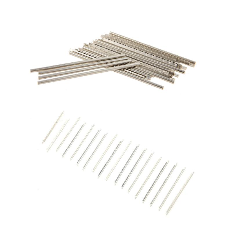 Fashion Style 19pcs Fingerboard Frets Fret Wire 2.0mm Durable Fret Wires Set For Classical Guitars Replacement Parts High Quality Accessories Electric Instrument