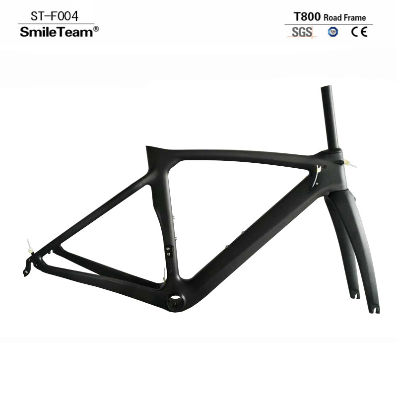 SmileTeam New Model XR4 Carbon Road Bike Frame Carbon Racing Road Bicycle Frameset With Fork seatpost 3 Colors Available цена 2017